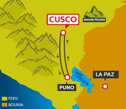 Tourist Bus Cusco to Puno to Cusco (Peru Hop)