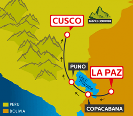 Tourist Bus La Paz to Copacabana to Puno to Cusco (Bolivia Hop)