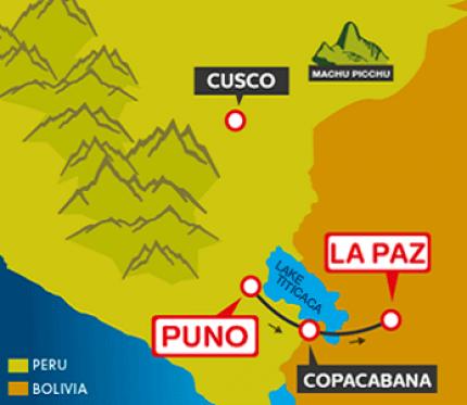 Tourist Bus Puno to Copacabana to La Paz (Bolivia Hop)
