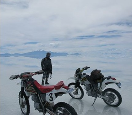 1-Day Uyuni Salt Flats Motorcycle Tour