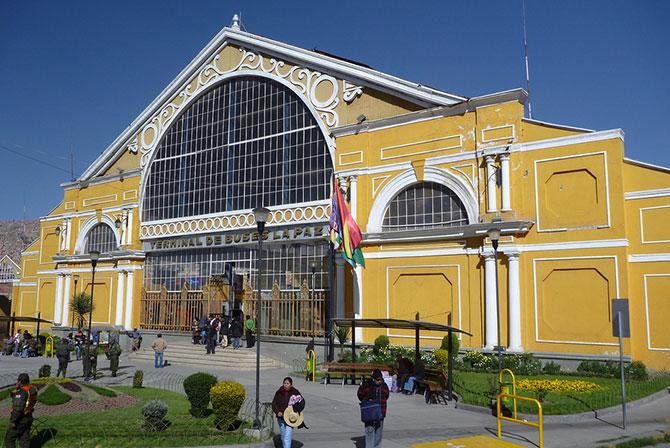 Main Bus Terminal La Paz Bolivia