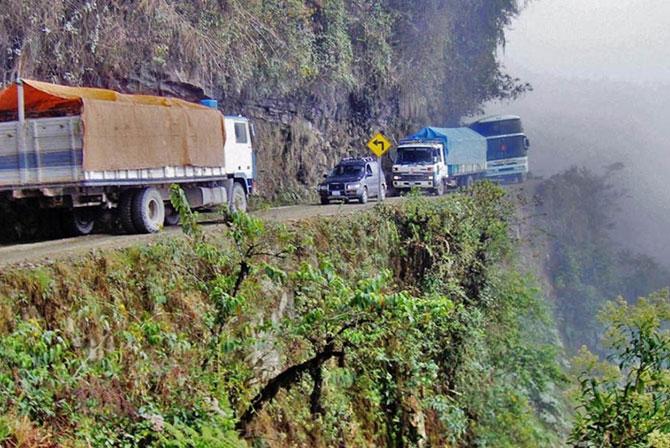 Death Road to Coroico Bolivia