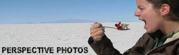 Salar de Uyuni Perspective Photos