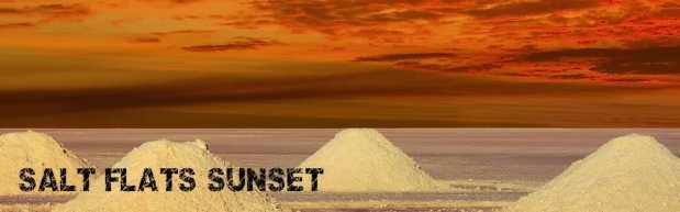 Salar de Uyuni Sunset on the Salt Flats